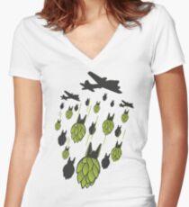 Hop Bomber Women's Fitted V-Neck T-Shirt