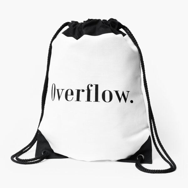 Law of Attraction - Overflow. Drawstring Bag