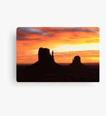 Monument Valley at Sunrise Canvas Print