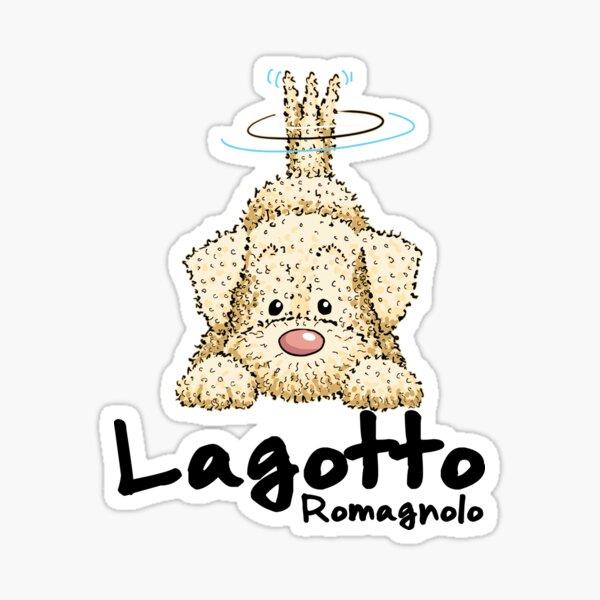 cute white Lagotto Romagnolo Sticker