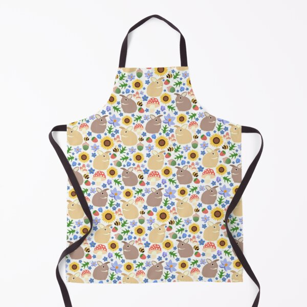 Late Summer Meadow Bunny Apron