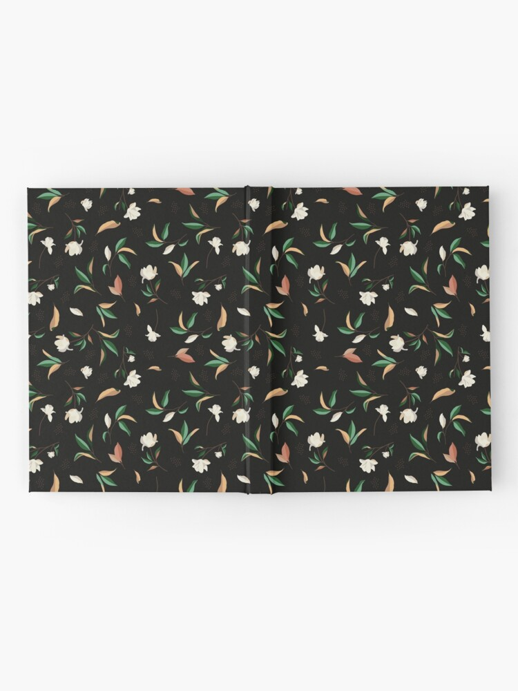 Alternate view of Magnolia flower and leaves Pattern Hardcover Journal
