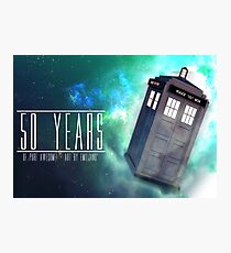 Those 50 Years - Doctor Who Photographic Print