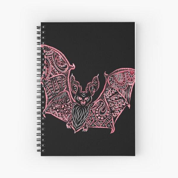Bat Bats Batter abstract art Spiral Notebook