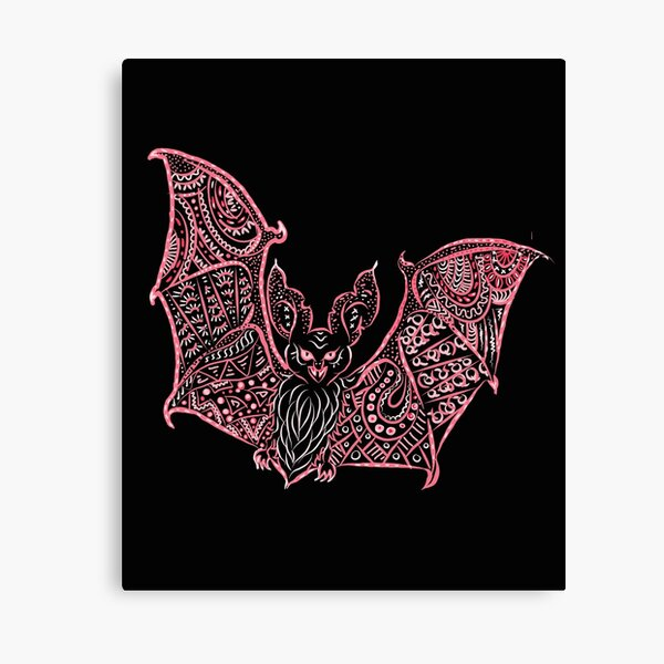 Bat Bats Batter abstract art Canvas Print