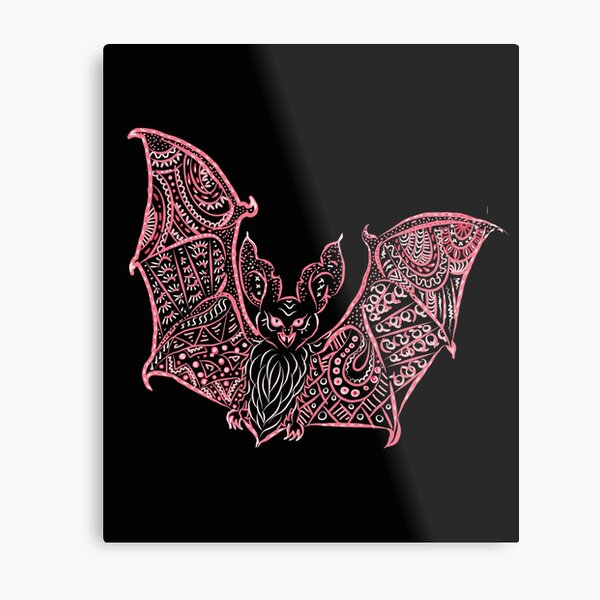 Bat Bats Batter abstract art Metal Print