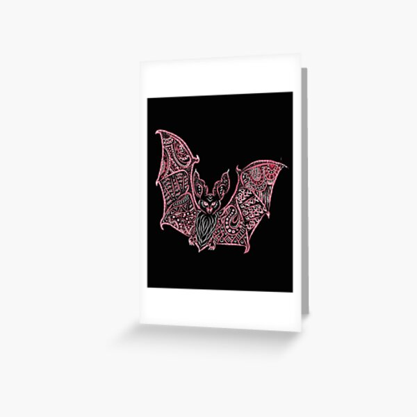 Bat Bats Batter abstract art Greeting Card