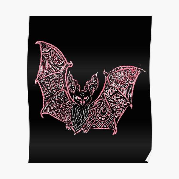 Bat Bats Batter abstract art Poster