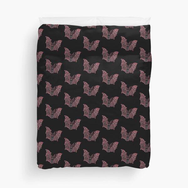 Bat Bats Batter abstract art Duvet Cover