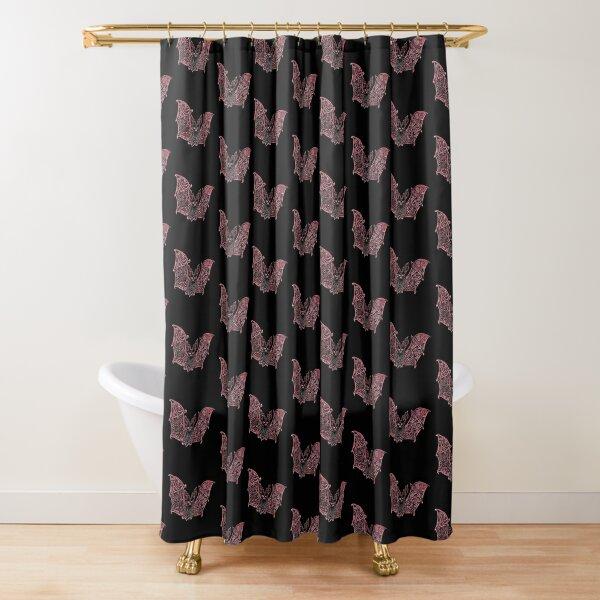 Bat Bats Batter abstract art Shower Curtain