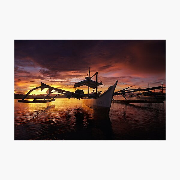 Bangka Sunset, Arms Open Wide 1 Photographic Print