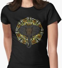 Awesome Indian Looking Elephant Womens Fitted T-Shirt