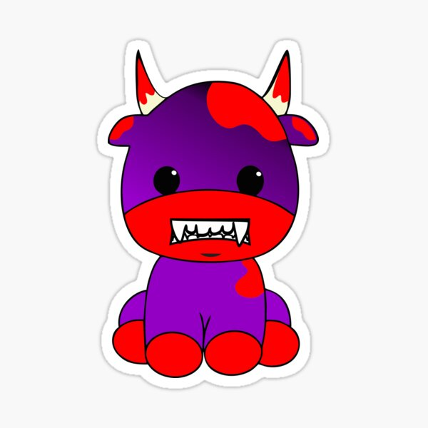 Halloween Vampire Cow Sticker Sticker