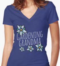 Gardening Grandma Women's Fitted V-Neck T-Shirt