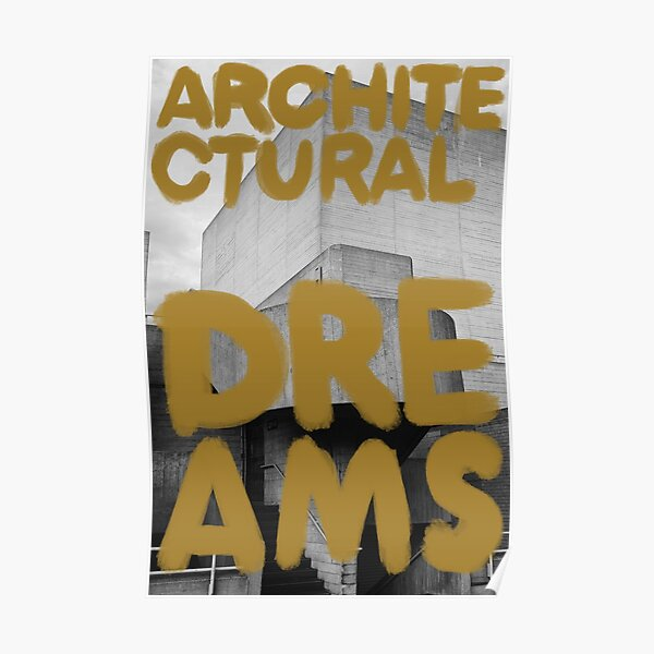 Architectural Dreams Gold Poster