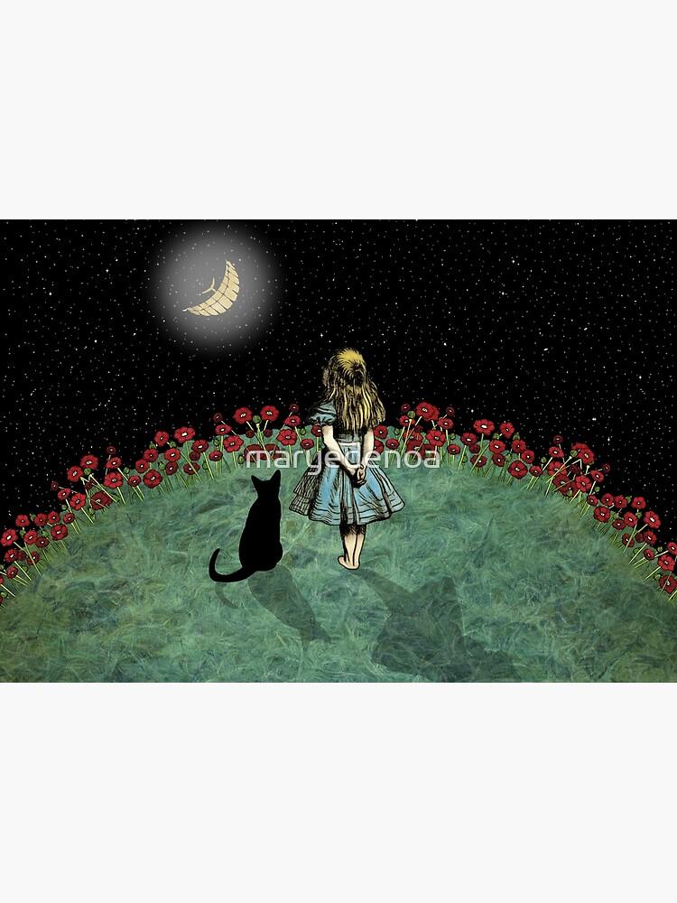 Alice & the Cheshire Cat Starry Night by maryedenoa