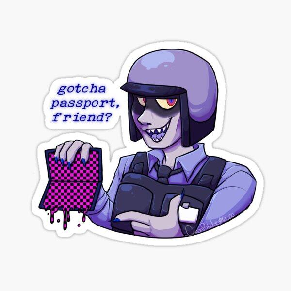 Gotcha Passport Friend? Sticker