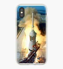 Vinilo o funda para iPhone Lanzamiento de Saturno V de la misión Apolo 11 Moon