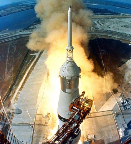 Saturn V Launch of Apollo 11 Moon Mission Sticker
