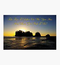 james island, wa & reflection Photographic Print