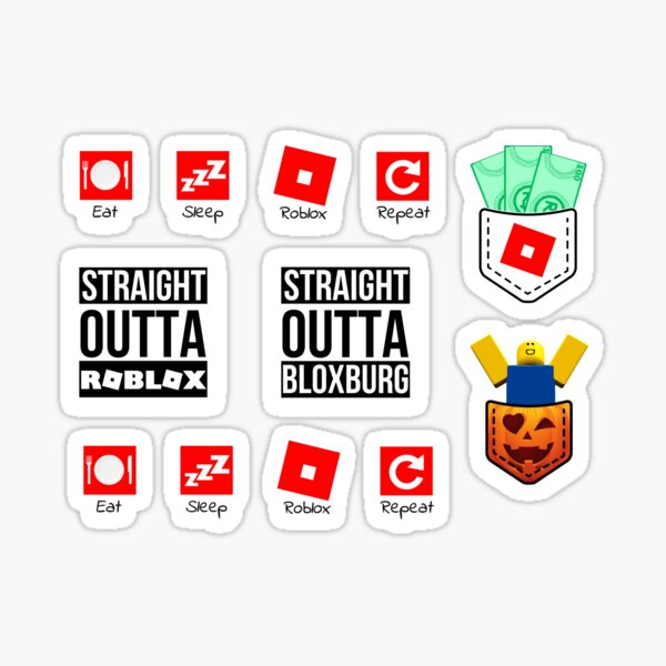 Roblox Noob Logo 4 By George Roblox Noob Png Image With Roblox White Stickers Redbubble