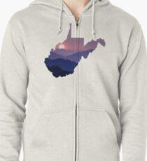 The West Virginia Hills Zipped Hoodie