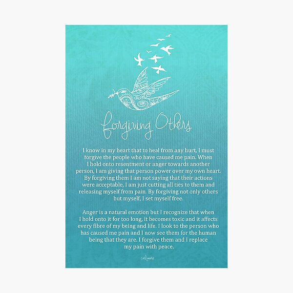 Affirmation - Forgiving Others Photographic Print