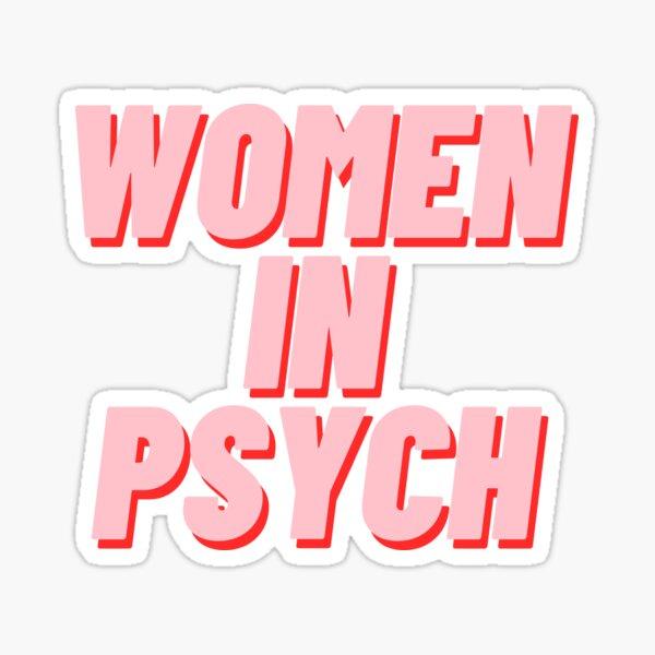 Mujeres en Psych Pegatina