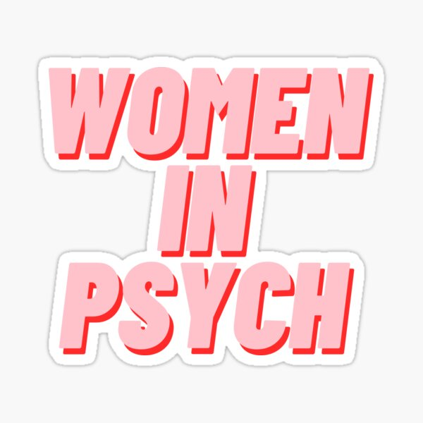 Women in Psych Sticker
