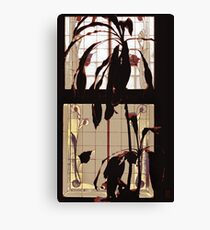 hotel plants against stained glass Canvas Print
