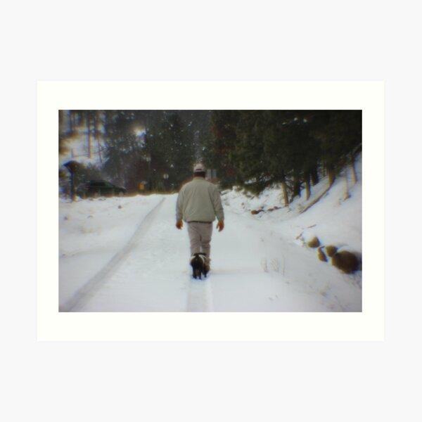 Path Series I - Following Pug I Art Print