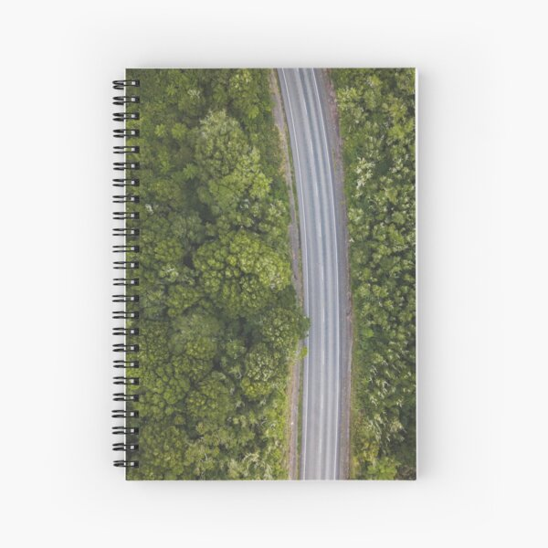 Drone view of a road somewhere in New Zealand Spiral Notebook