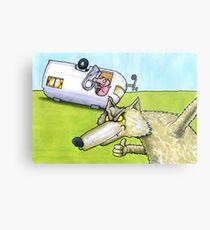 Wolf and little pig Metallbild