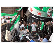 Syrian Demonstrators Poster