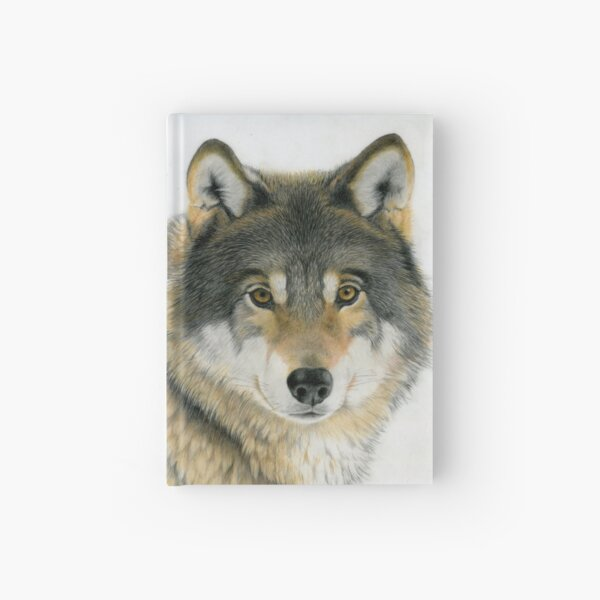 Grey Wolf Hardcover Journal