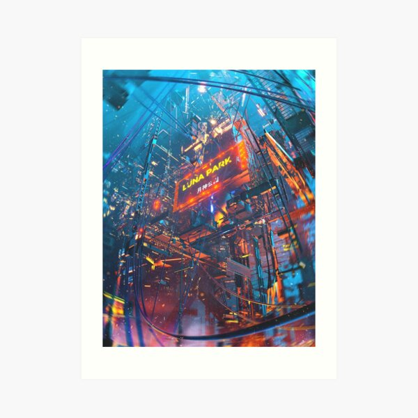 Luna Park, by Dangiuz Art Print