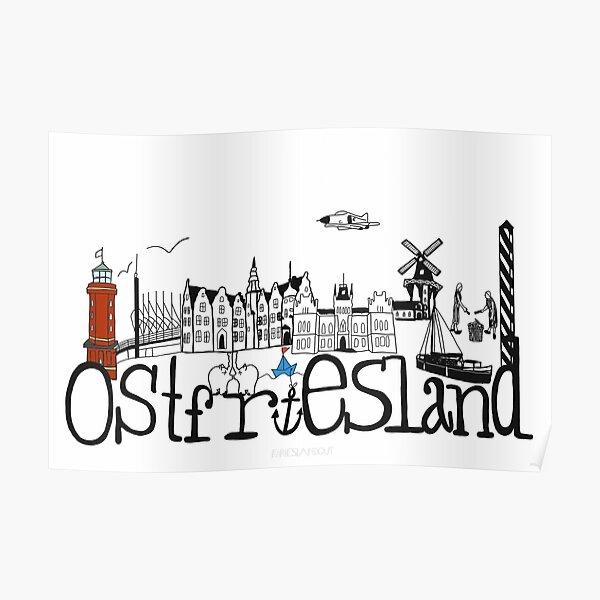 Ostfriesland Skyline  Poster