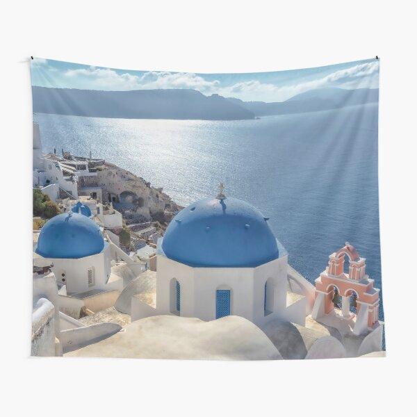 Santorini Island Tapestry