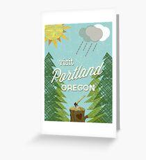 Visit Portland OR Greeting Card