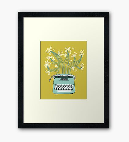 the Typing Tree Framed Print
