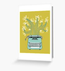 the Typing Tree Greeting Card