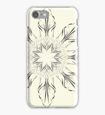 digital drawing flower floral scroll swirl abstract yellow iPhone Case/Skin