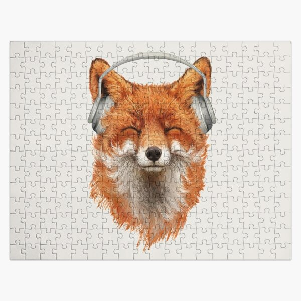 Smiling Musical Fox Jigsaw Puzzle