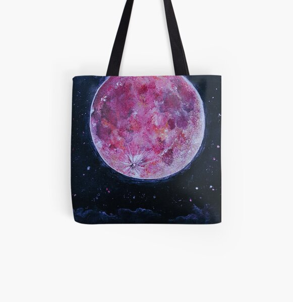 Red moon All Over Print Tote Bag