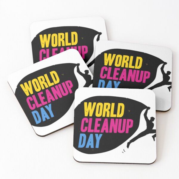 World Cleanup Day Coasters (Set of 4)