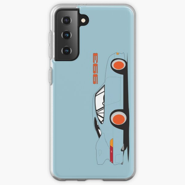 Porsche 993 Samsung Phone Case - Blue Samsung Galaxy Soft Case