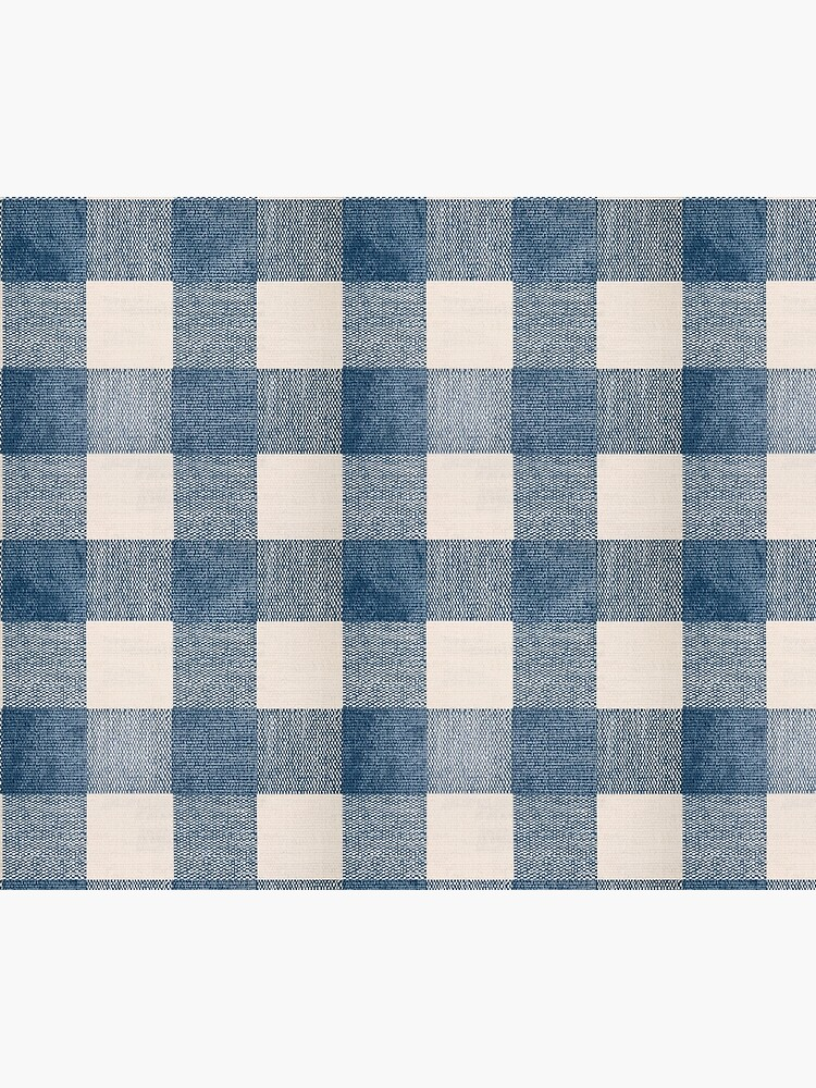 Blue Gingham Plaid Country by km83