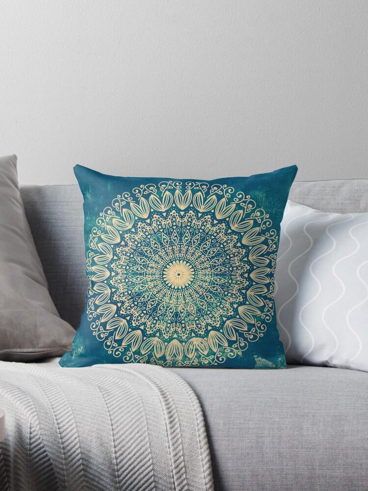 Blue Organic Boho Mandala by nikamartinez