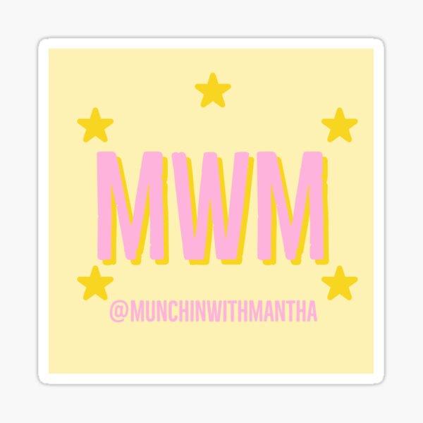 Munchin with Mantha Logo Sticker