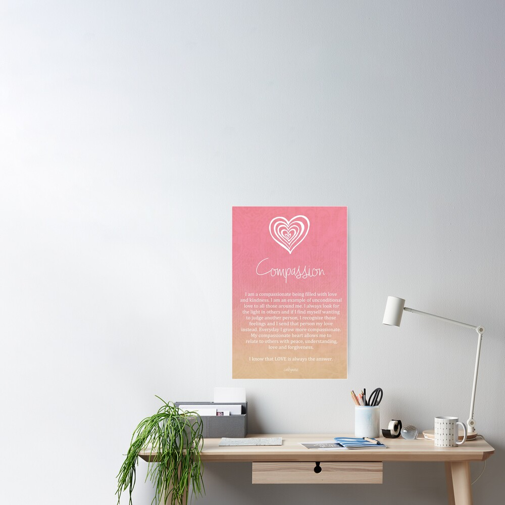 Affirmation - Compassion Poster